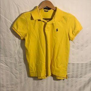 Polo Ralph Lauren yellow boys polo size large